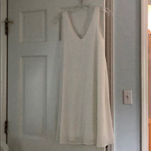 NWOT Pinkblush Basic White Chiffon Maternity Dress